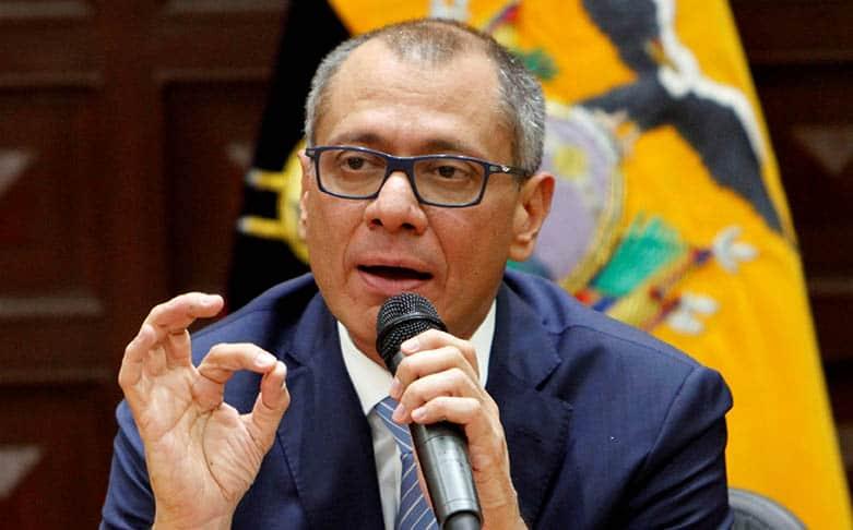 El vicepresidente de Ecuador Jorge Glas.
