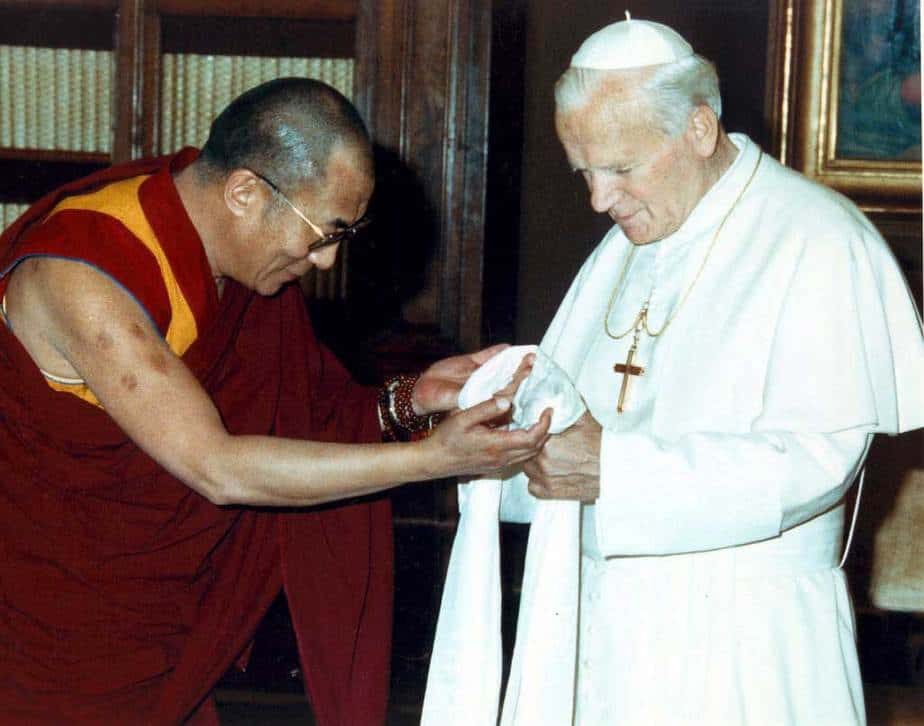El Papa Juan Pablo II y Dalai Lama