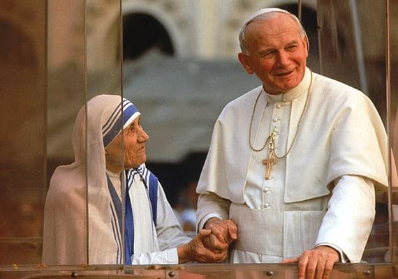 Madre Teresa y Juan Pablo II