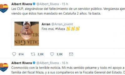 Redes sociales. Un detenido en Barcelona por celebrar la muerte de Maza