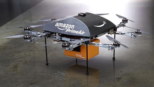 Drones de Amazon reparten los envíos