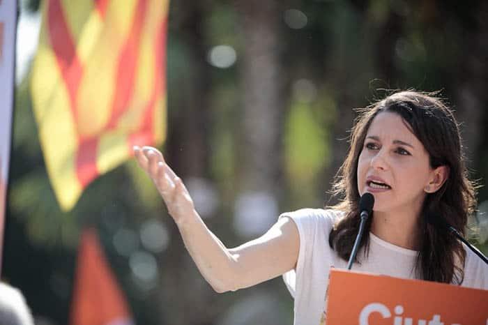 La portavoz de Ciudadanos en Cataluña, Inés Arrimadas.