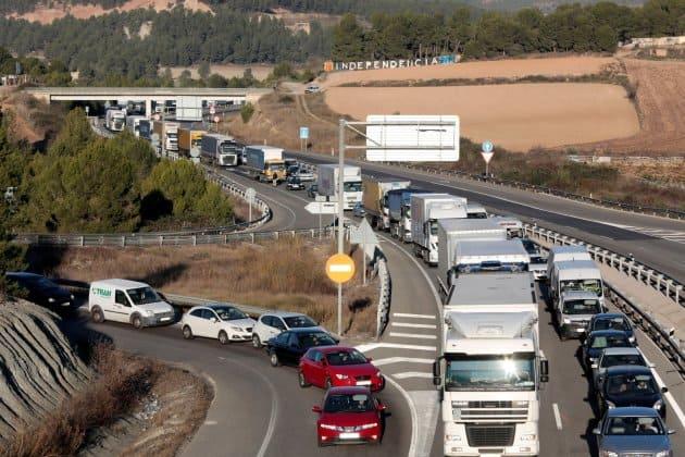 Bloqueo de vías en Cataluña