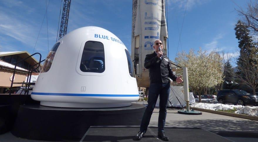 Bezos y su linea de transporte aeroespacial para turistas, Blue Origin