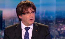 Carles Puigdemont entrevistado en la televisión de Bélgica
