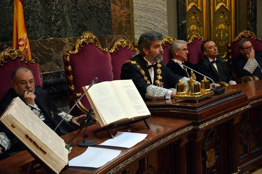 El presidente del CGPJ, máximo órgano de los jueces, Carlos Lesmes.