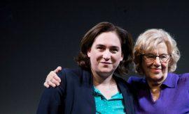 Las alcaldesas de Madrid y Barcelona, Manuela Carmena y Ada Colau