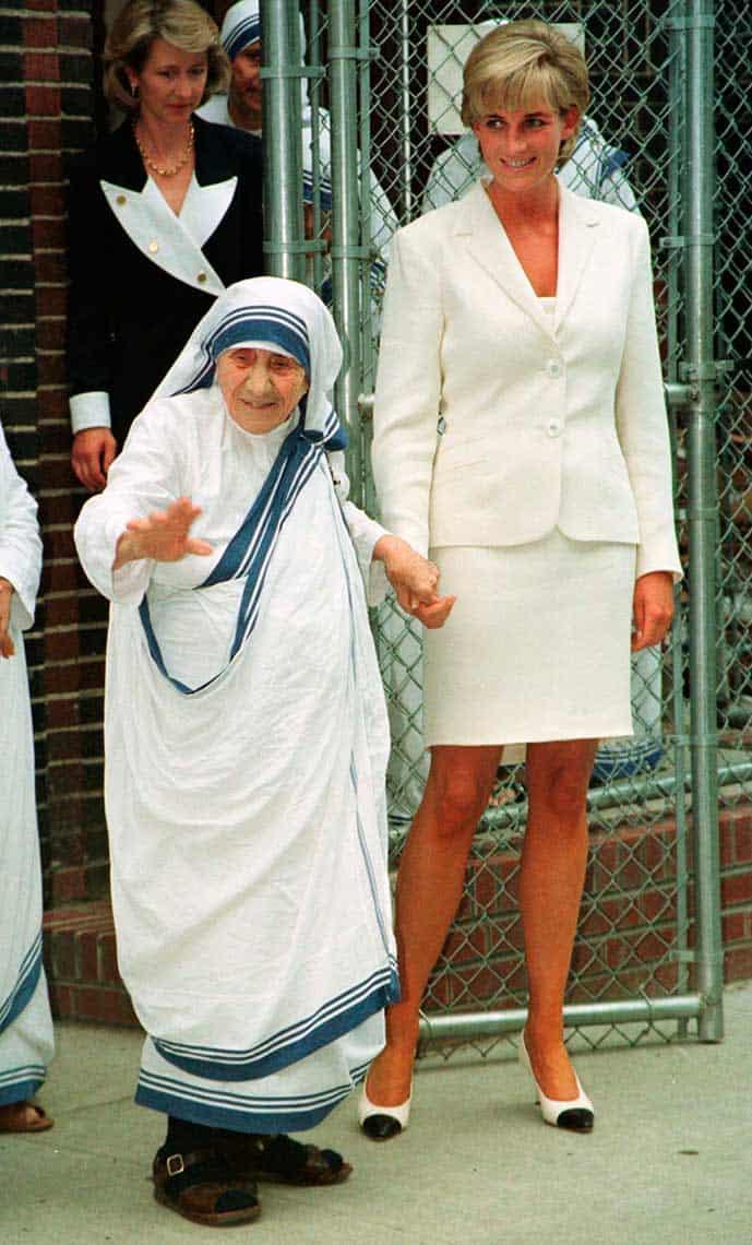 Madre Teresa y la Princesa Diana de Gales