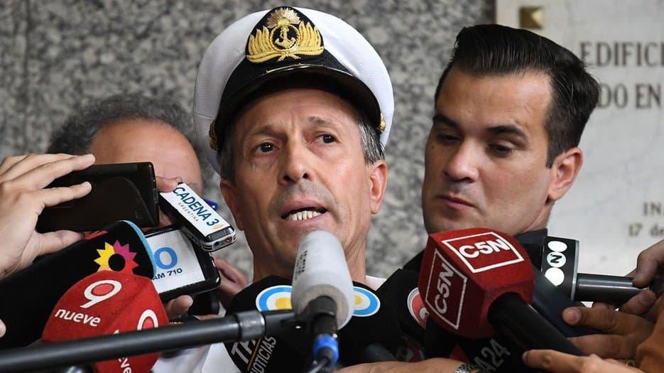 El capitán argentino Enrique Balbi ofreció los últimos detalles de la búsqueda del submarino