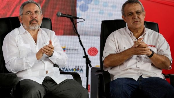Los exdirectivos salientes de PDVSA en Venezuela Nelson Martínez y Eulogio Del Pino