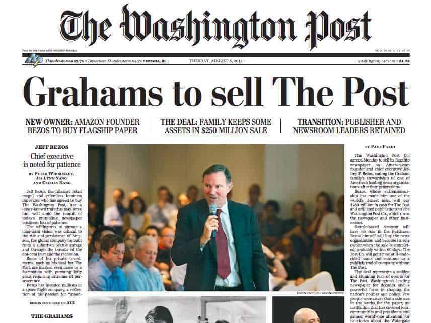 The Washington Post fue comprado por Bezos