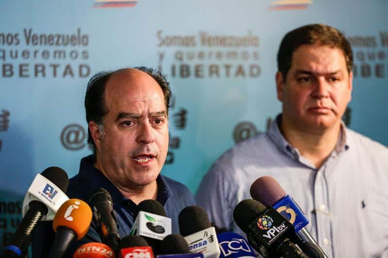 Julio Borges y Luis Florido, miembros de la oposición en venezuela