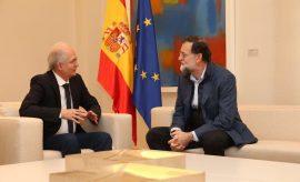 Antonio Ledezma y Mariano Rajoy en La Moncloa