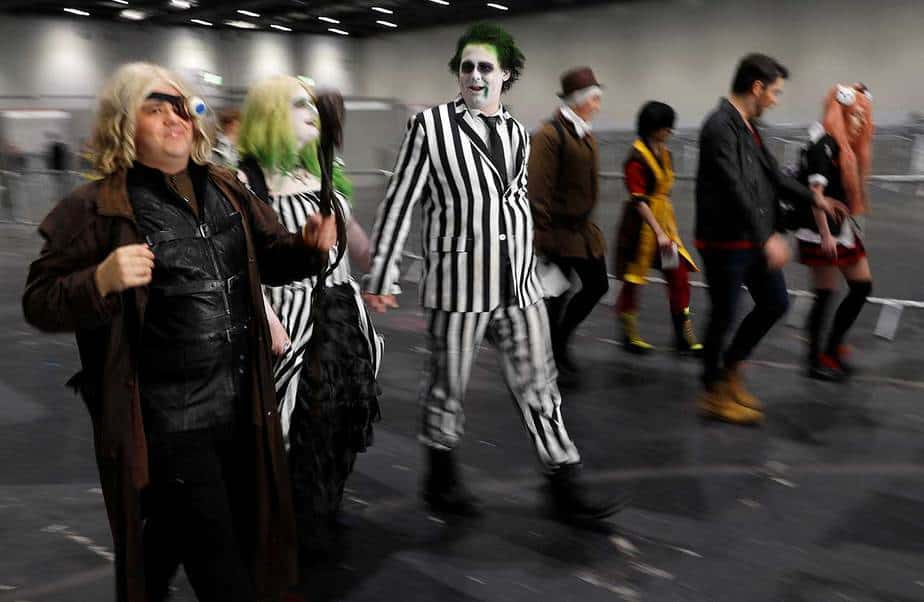 Cosplays en el Londres Comic Con. REUTERS / Peter Nicholls