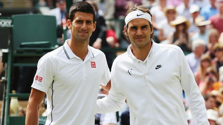 """""""El saque más largo del mundo"""": el cómico video viral que protagonizaron Novak Djokovic y Roger Federer"""