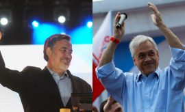 De Izq a Der: Alejandro Guillier y Sebastián Piñera, los dos candidatos a enfrentarse en Chile
