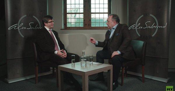 """Puigdemont le concede una entrevista a RT en plena efervecencia de la """"crisis rusa"""""""