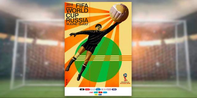 El legendario portero ruso Lev Yashin es la imagen del póster del Mundial de Rusia 2018