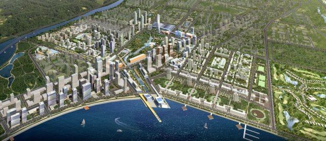 En la ciudad de Songdo, Corea del Sur, Gale International está construyendo el Distrito Comercial Internacional (IBD) en tierras recuperadas a lo largo del Mar Amarillo. (Business Insider)