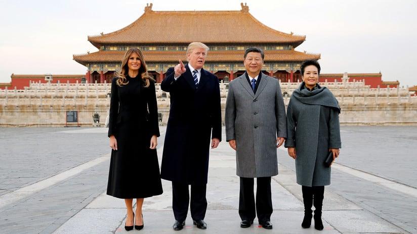 Donald Trump y Xi Jinping en China