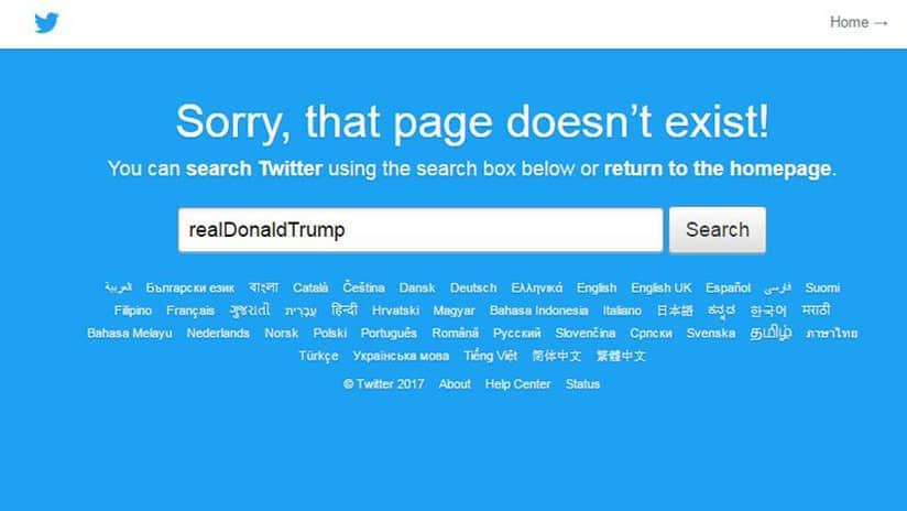 """Twitter explicó el incidente de la cuenta de Trump como un """"error humano"""""""