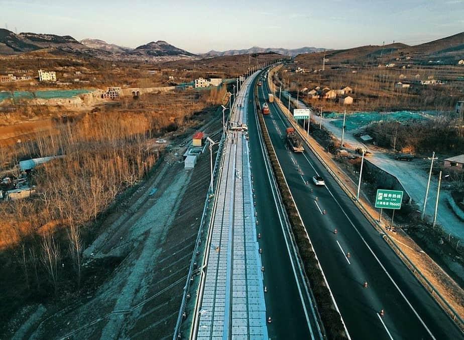 China integra una carretera solar en la ciudad de Jinan