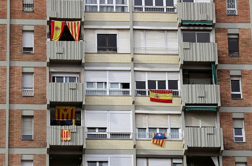 Fachadas en Cataluña.