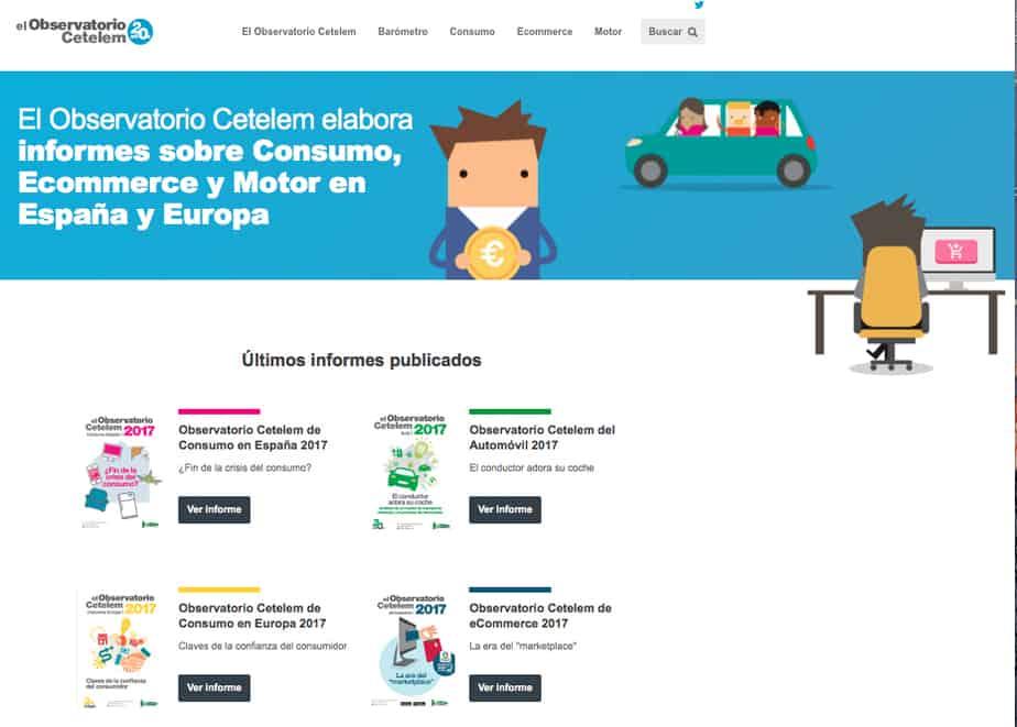 Observatorio Cetelem lanza una web con su observatorio de consumo