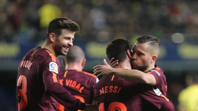 El Barcelona vence al villarreal 0-2