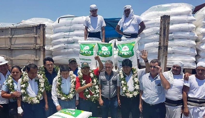Bolivia empezó a exportar urea a varios países