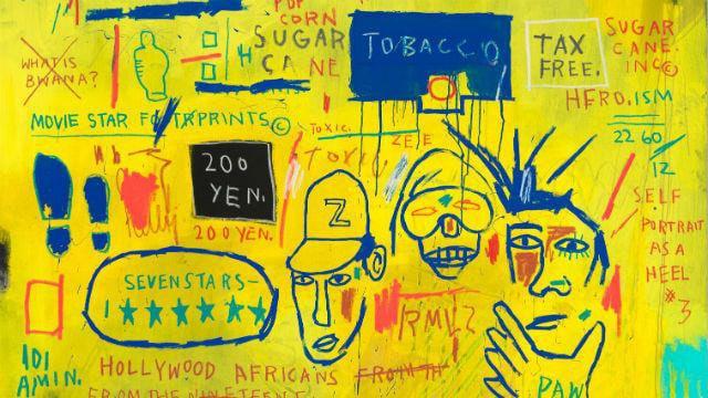 Trabajo de Basquiat.
