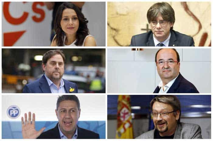 Cierre de campaña en Cataluña con altercado entre Puidgemont y Junqueras