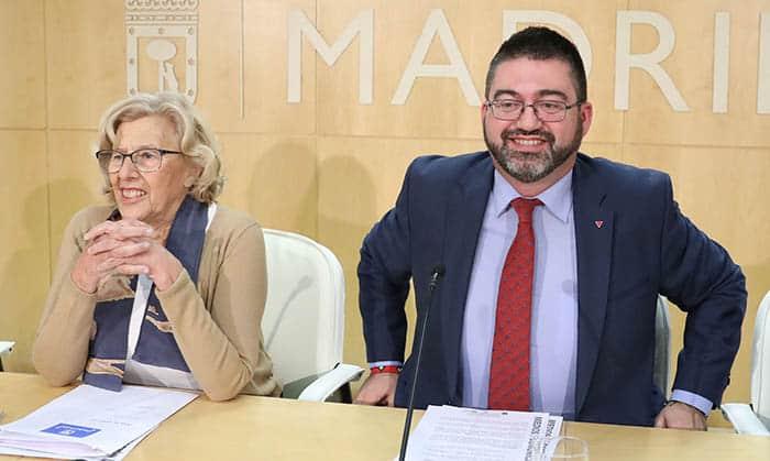 Manuela Carmena y Carlos Sánchez Mato.