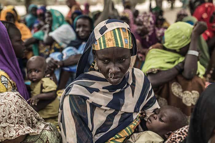 Mujeres en la región de Lago Chad.
