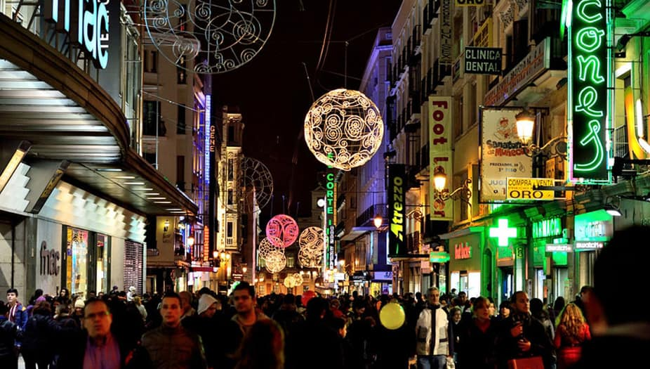 Madridencabeza la lista de los destinos españoles en navidad más buscados este año