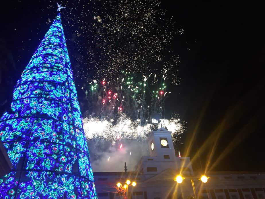 Feliz Año Nuevo 2018: Puerta del Sol, Madrid