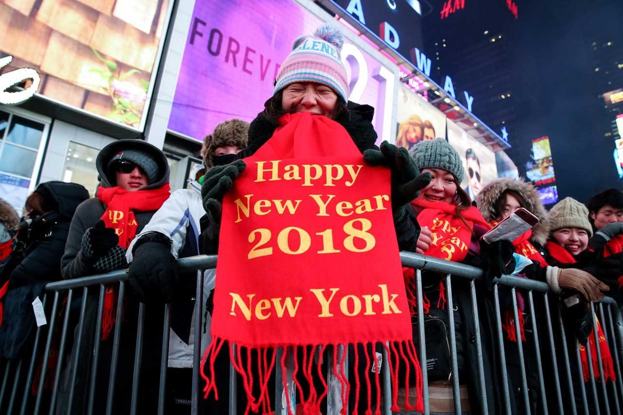 Como cada fin de año en Nueva York, Times Square fue la protagonista. REUTERS