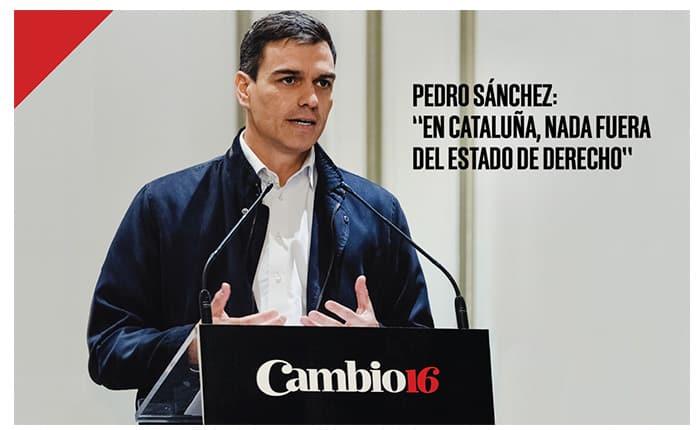 Pedro Sánchez galardonado con el premio Político del Año por Cambio16