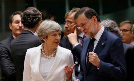 Encuentro entre Rajoy y May sobre el Brexit.