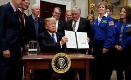 Donald Trump confirmó que Estados Unidos volverá a enviar hombres a la Luna como paso previo del viaje a Marte