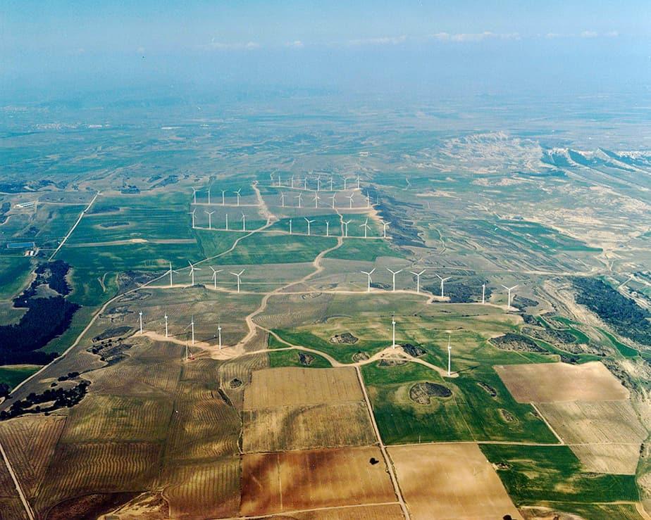 Tres parques eólicos en Navarra reducirán emisiones