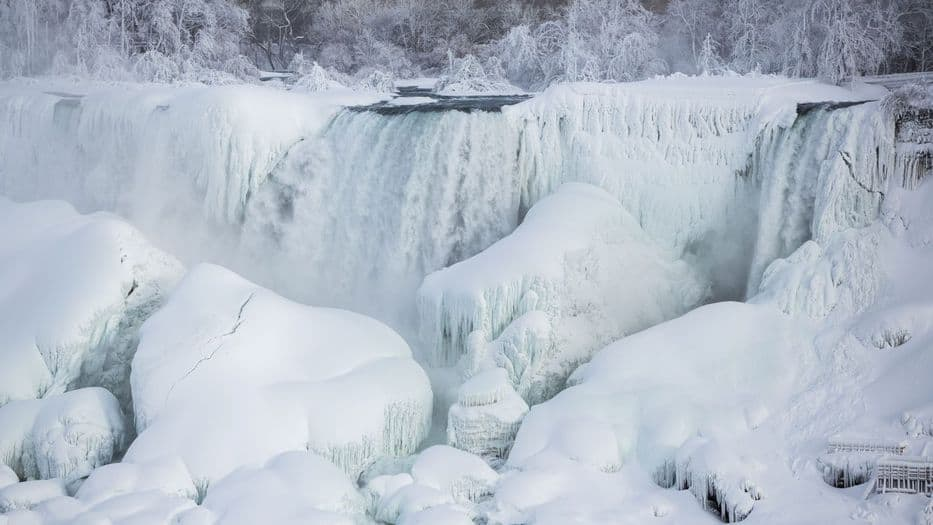 Las cataratas del Niágara no se congelan