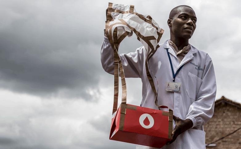 """Drones para el transporte de sangre: el """"Uber salvavidas"""""""