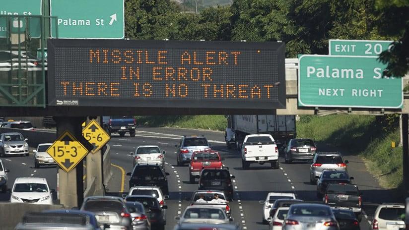 Falsa alerta de misil balístico en Hawái generó 30 minutos de terror