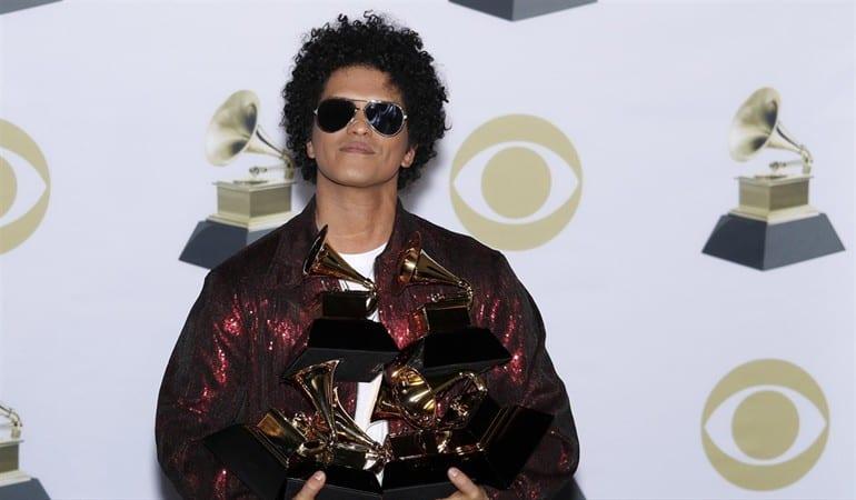 Ganadores del Grammy 2018: Bruno Mars, el máximo ganador