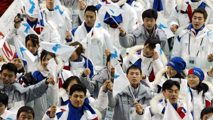 En la ceremonia de la inauguración de los próximos Juegos Olímpicos de Invierno, las dos Coreas desfilarán con una sola bandera