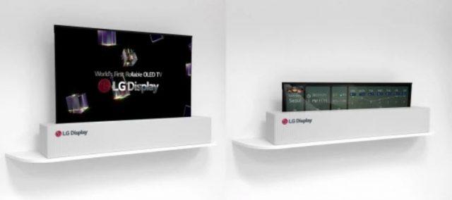 LG debutó un televisor OLED de 65 pulgadas queliteralmente se enrollacomo un pergamino.