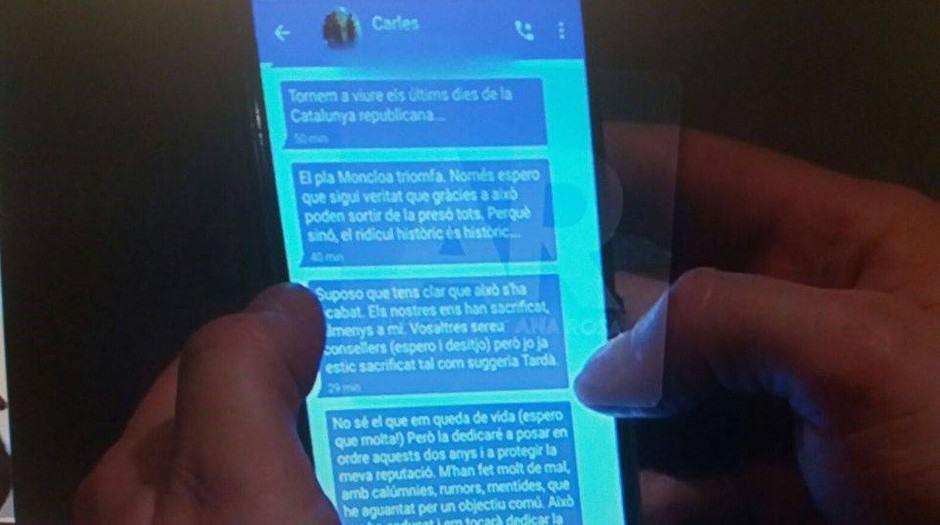 Mensajes de Puigdemont a Comín