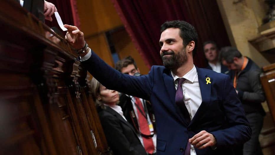 El nuevo presidente del Parlamento de Cataluña, Roger Torrent