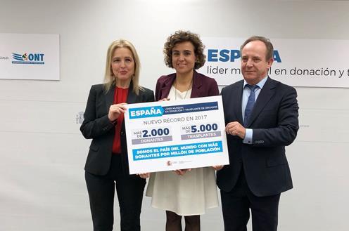 La ministra Dolors Montserrat ha hecho público el balance de trasplantes de 2017.